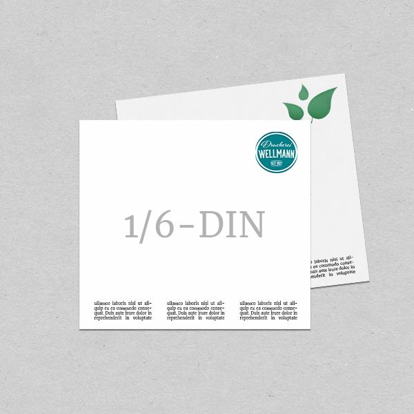 Briefpapier 1/6 DIN